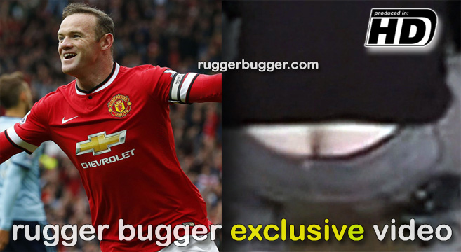 WAYNE ROONEY SHOWS HIS ARSE!